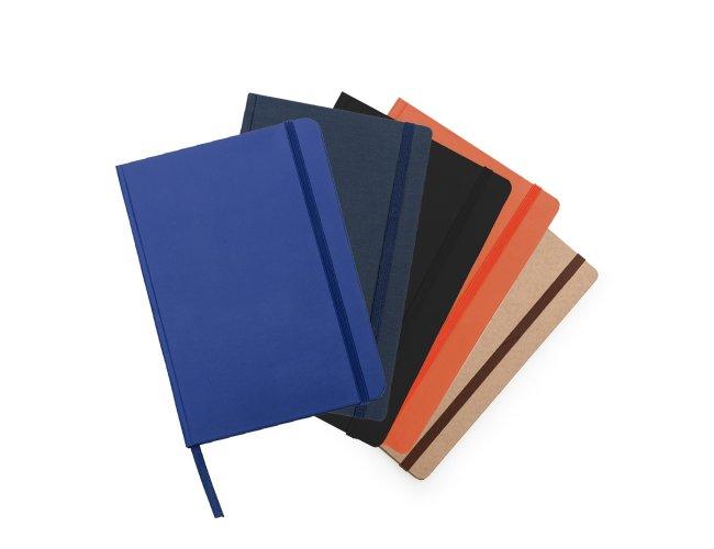 Caderneta Moleskinede Material Sintético com Marca Página