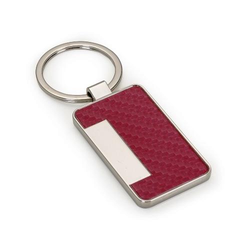 Chaveiro Porta Cartão de Metal e Material Sintético Texturizado