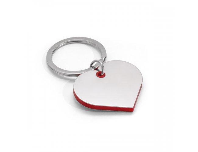 Chaveiro Coração Detalhe Vermelho