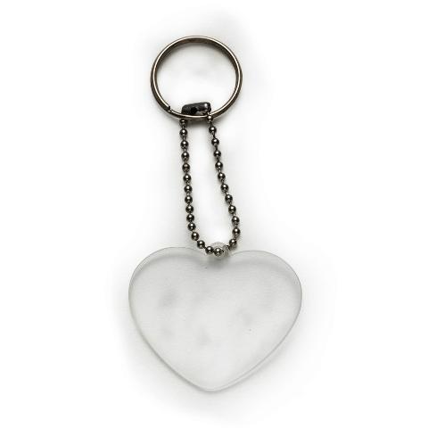 Chaveiro Coração Transparente