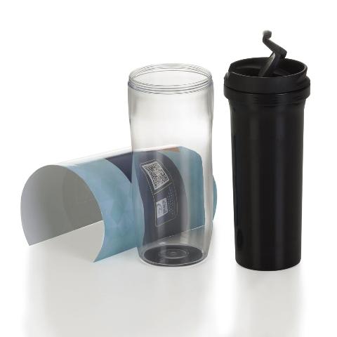 Copo Plástico Porta-Foto (350ml)