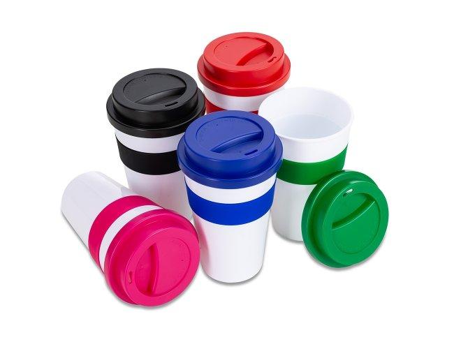 Copo Plástico com Luva de Proteção em Silicone (480 ml)