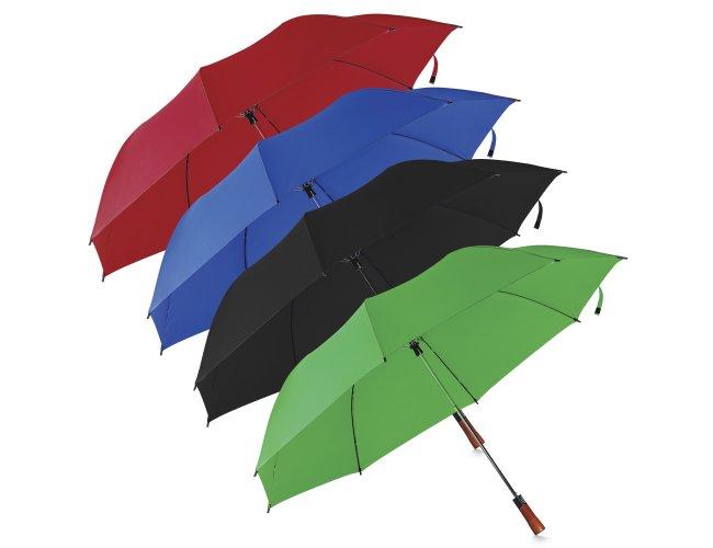 Guarda-chuva com Cabo de Madeira e Haste de Metal