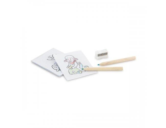 Mini Kit Pintura com Cartões e Lápis Coloridos