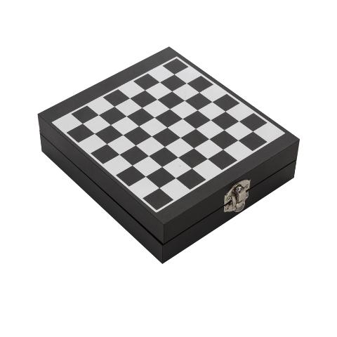 Kit Vinho Jogo de Xadrez com 4 Peças em Caixa em MDF