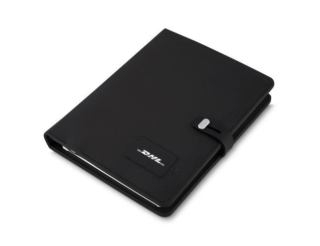 Caderno de Anotações Powerbank com Placa