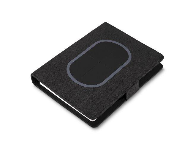 Caderno de Anotações com Powerbank 4.000 mAh Luxo