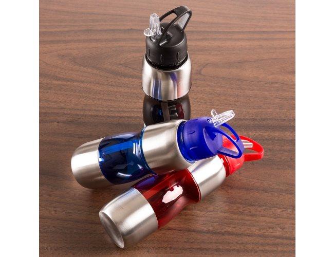 Squeeze Alumínio Bico com Canudo (600ml)