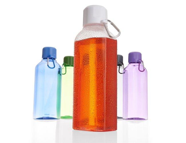 Squeeze Plástica Transparente com Mosquetão (730 ml)
