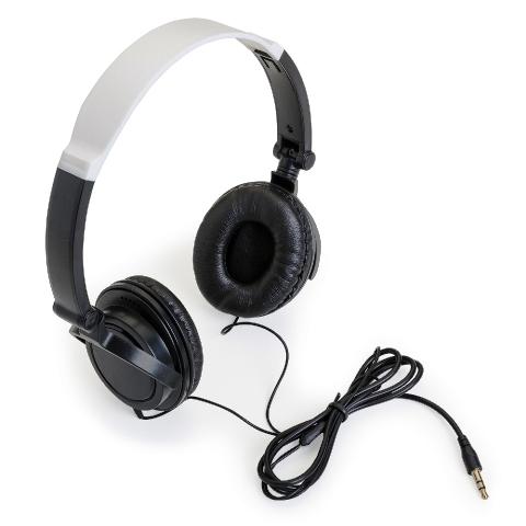 Fone de Ouvido Articulável com Auricular Preta