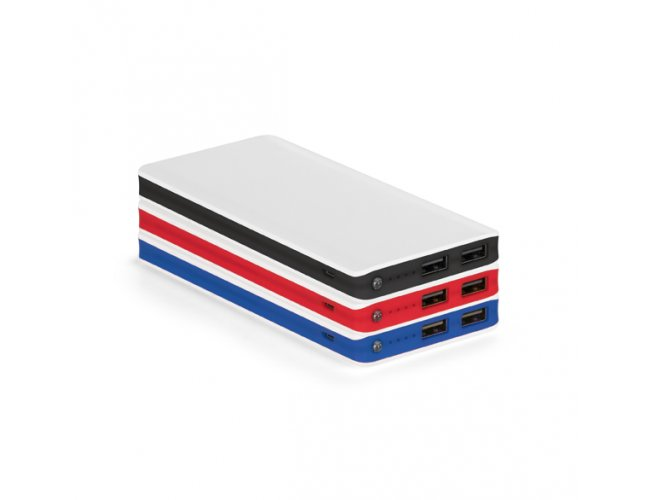 Bateria Portátil Branca com Faixa