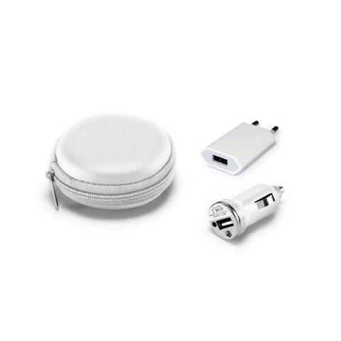 Kit Redondo de Carregadores USB