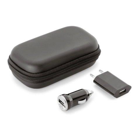 Kit Retangular de Carregadores USB