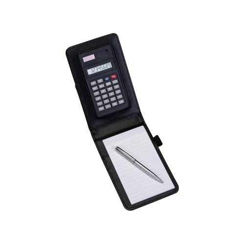 Calculadora com Caneta Externa e Bloco de Anotações