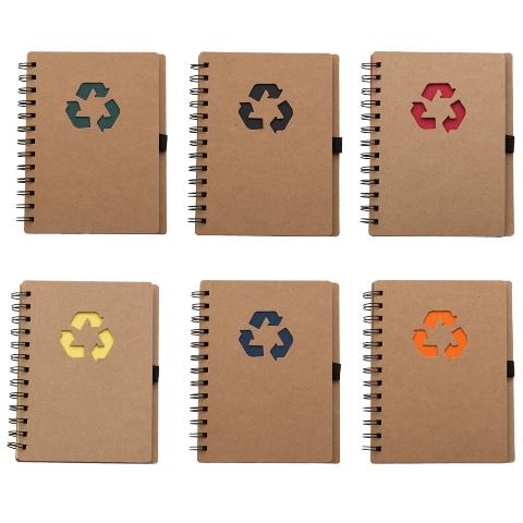 Bloco de Anotações Reciclável com Diversas Capas