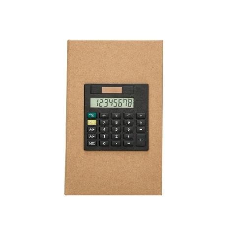 Bloco de Anotações Capa Papelão com Post it e Calculadora