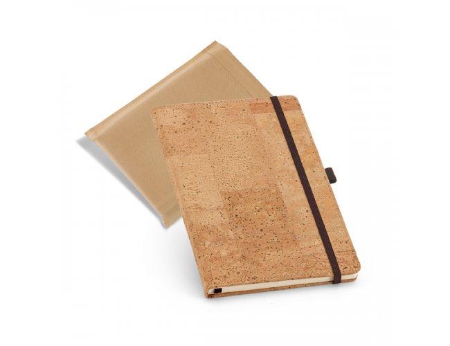 Caderno em Cortiça com Embalagem TNT Pq