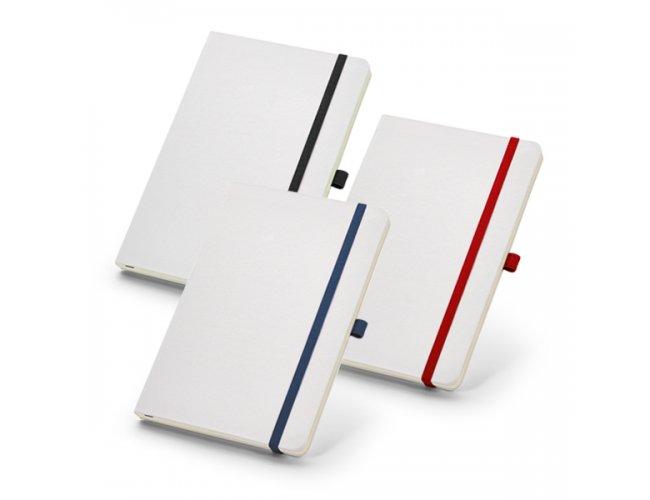 Caderno Capa Dura Folhas Não Pautadas Com Porta Esferográfica