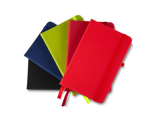 Caderno Pequeno de Anotações com Elástico Suporte para Caneta