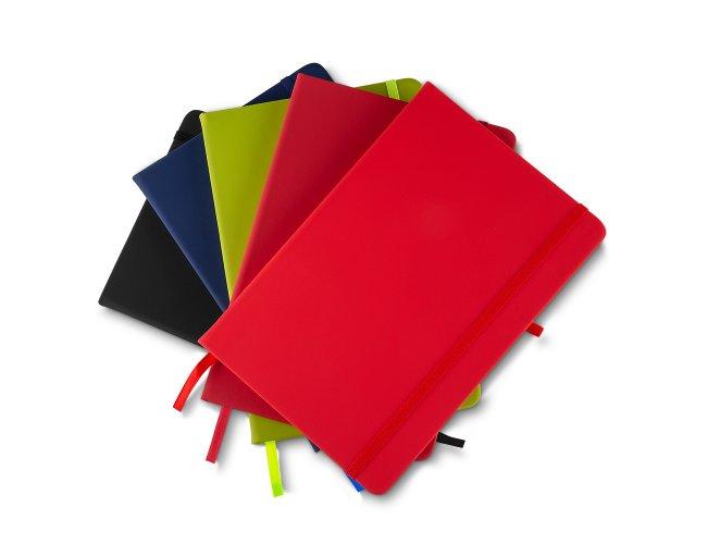 Caderno Médio de Anotações com Elástico e Suporte para Caneta