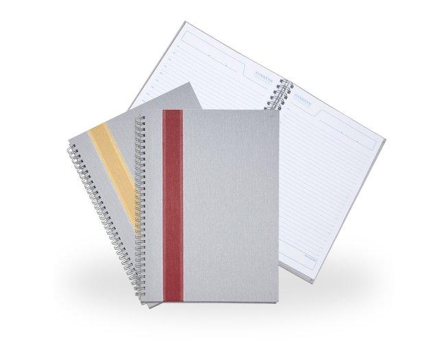 Caderno Grande Cinza com Faixa