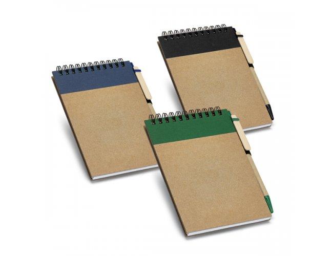 Cadernos Ecológico com Faixa Colorida