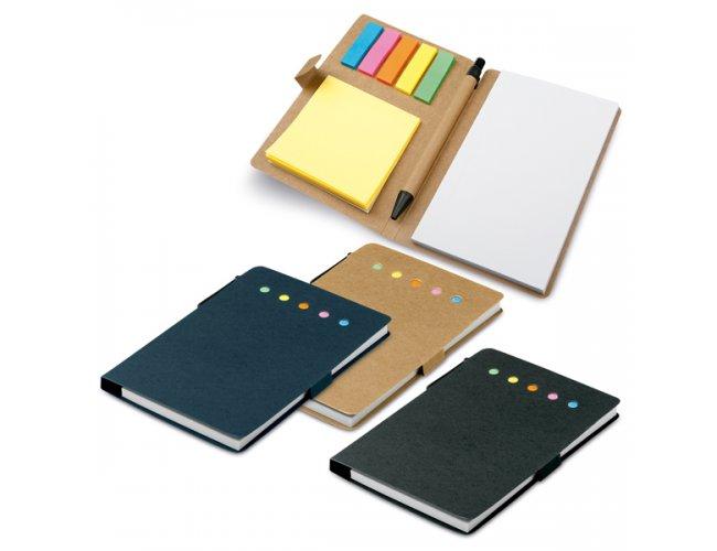 Caderno Cartão Ecológico com Caneta e Post-it