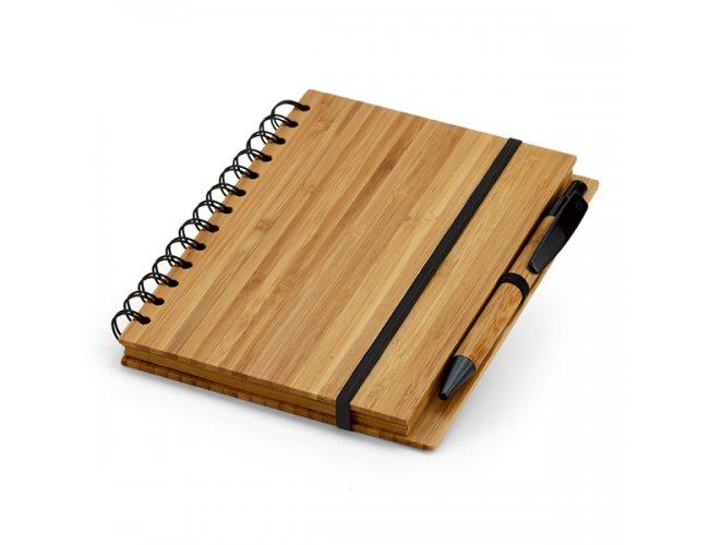 Caderno Ecológico em Bambu com Caneta em Bambu