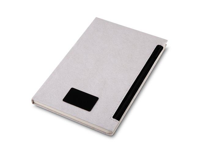 Caderno com Porta Objetos em  Ziper na Capa