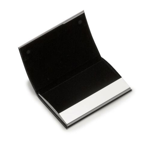 Porta Cartão Horizontal em Material Sintético com Inox