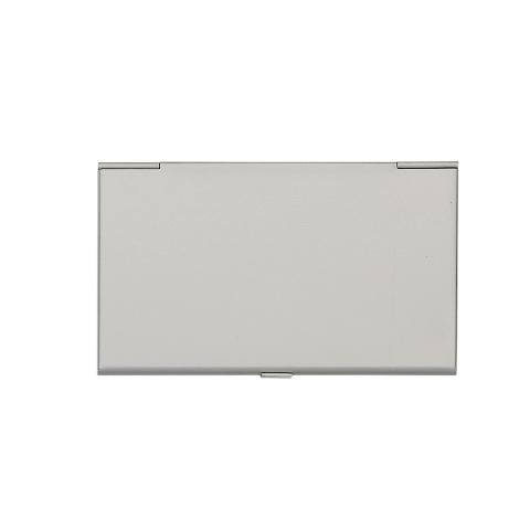 Porta Cartão de Bolso de Alumínio Fosco Liso