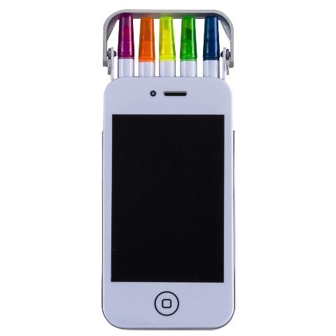 Estojo Smartphone com Canetas Marca Texto