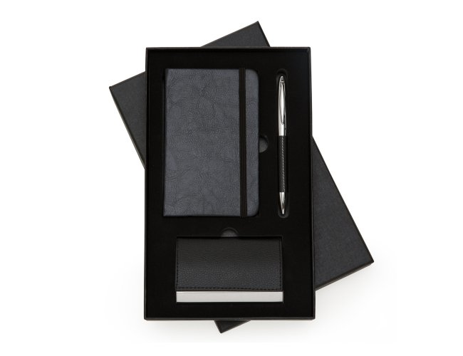 Kit Executivo 3 Peças Moleskine Caneta e Porta Cartão