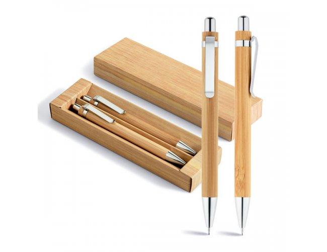 Conjunto de Caneta e Lapiseira em Bambu GREENY
