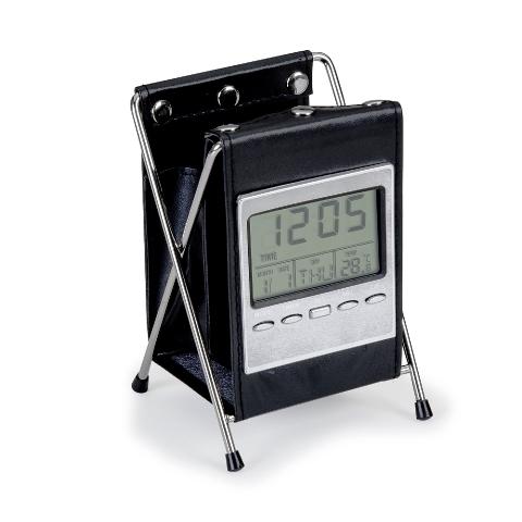 Relógio de Material Sintético com Porta Caneta