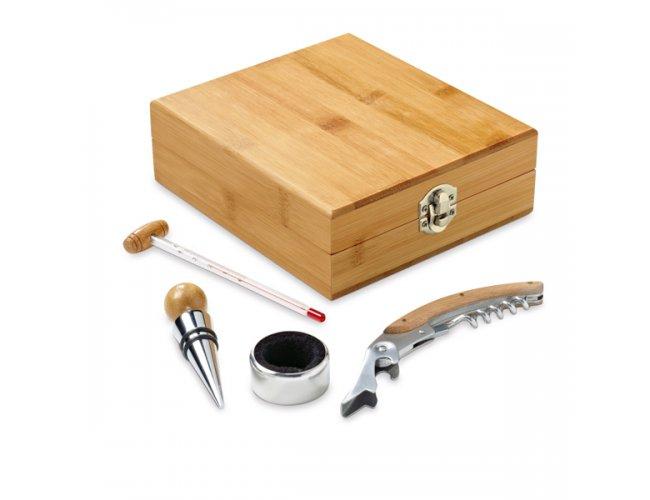 Caixa de Kit Vinho de Bambu e Zinco