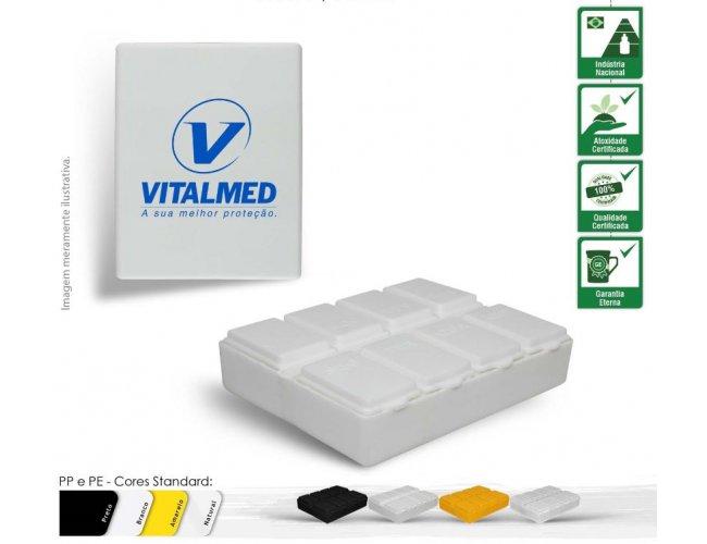 Porta Comprimidos Retangular