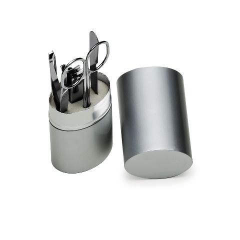 Kit Manicure com 5 Peças em Estojo Oval
