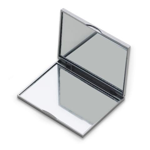 Espelho de Bolso Duplo Quadrado com Faixa