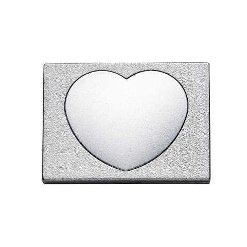 Espelho de Bolso com Detalhe de Coração