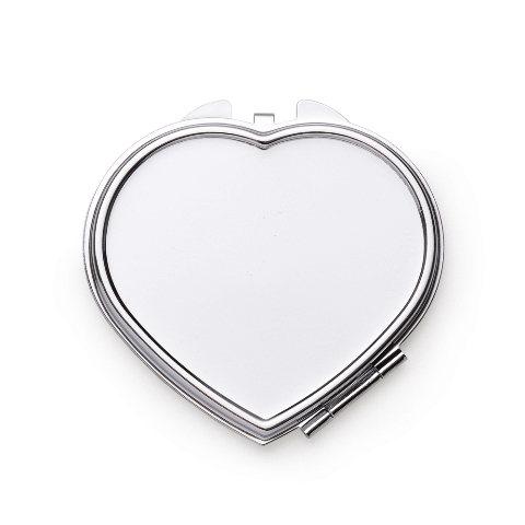 Espelho de Bolso Coração com Aumento