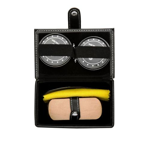 Kit Engraxate com 5 Peças em Estojo de Material Sintético